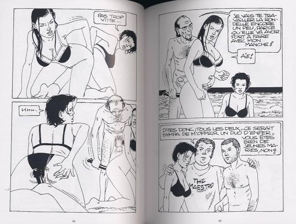 Noir blanc Comics porno