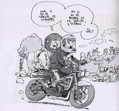 A un motard philippe bercovici humour canal bd - Dessin motard humoristique ...