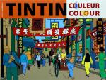Rayon : Albums (Art-illustration), Série : Tintin Couleur Colour, Tintin Couleur Colour (Couverture Orange) (Coloriage)
