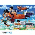 Rayon : Affiches, Série : Dragon Ball Super, Dragon Ball Super : Groupe Goku (52 x 38 cm)