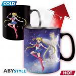 Rayon : Objets, Série : Sailor Moon, Sailor & Chibi (Mug Thermo-Reactif 460 ml)