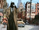 Rayon : Affiches, Série : Blacksad, Blacksad à New-York (70 x 100 cm)
