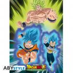 Rayon : Affiches, Série : Dragon Ball Super Broly, Broly Vs Goku & Vegeta (38 x 52 cm)