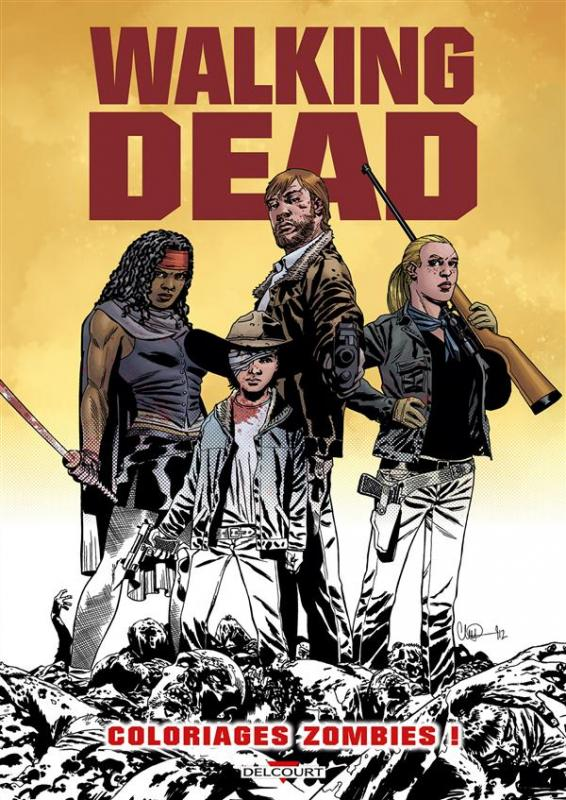 Serie Walking Dead Coloriages Zombies La Planete Dessin Une