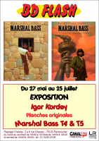 Affiche Exposition Igor Kordey, Marshal Bass tomes 4 & 5