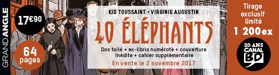 Nouveautés BD & COMICS 2017.48 du 27 novembre au 3 décembre 2017   Bando-40-elefans-574x155